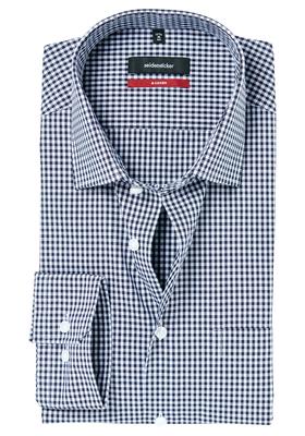 Seidensticker Modern Fit overhemd, blauw geruit