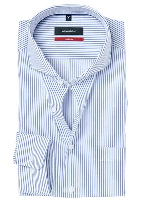 Seidensticker Modern Fit overhemd, blauw gestreept