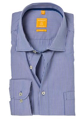 Redmond Modern Fit overhemd, blauw (contrast)