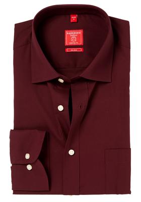Redmond Regular Fit overhemd, bordeaux rood