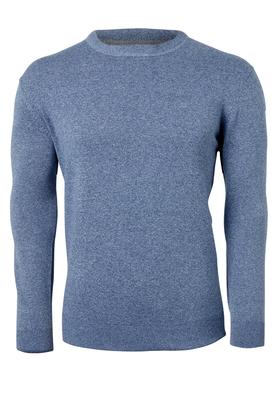 Redmond heren trui katoen, O-hals, lichtblauw melange