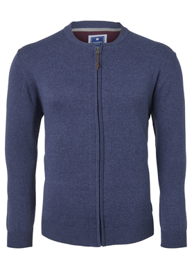 Redmond heren vest katoen, blauw (met rits)
