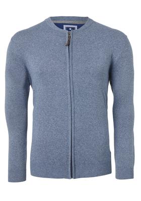 Redmond heren vest katoen, jeansblauw (met rits)
