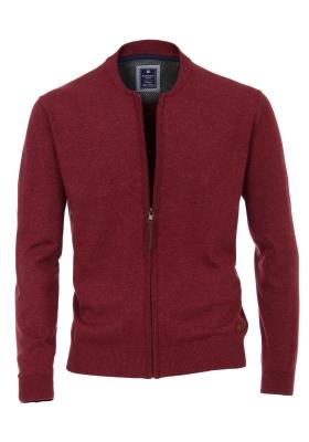 Redmond heren vest katoen, warm rood (met rits)