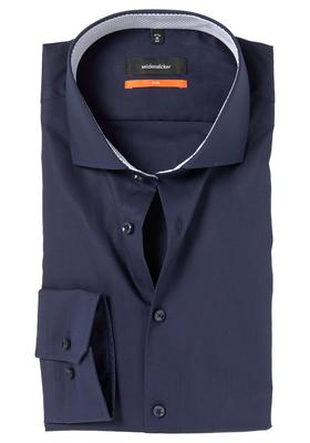 Seidensticker Slim Fit overhemd, marine blauw (contrast)