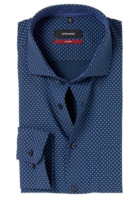 Seidensticker Modern Fit overhemd, donkerblauw dessin (contrast)