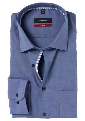 Seidensticker Modern Fit overhemd, donkerblauw (gestreept contrast)