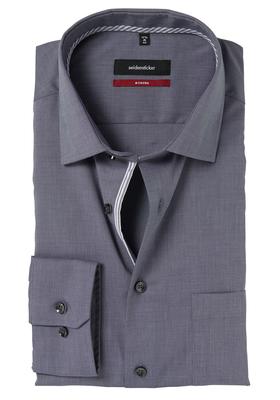Seidensticker Modern Fit overhemd, antraciet (gestreept contrast)