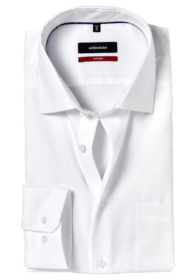 Seidensticker Modern Fit overhemd, wit structuur