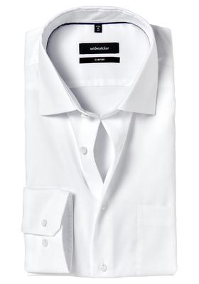 Seidensticker Comfort Fit overhemd, wit structuur