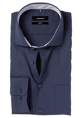 Seidensticker Comfort Fit overhemd, donkerblauw (contrast)