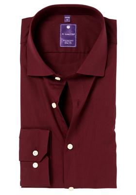 Redmond Slim Fit overhemd, bordeaux rood