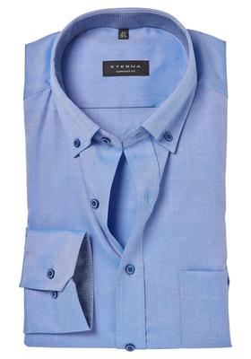ETERNA Comfort Fit overhemd, blauw button-down (contrast)