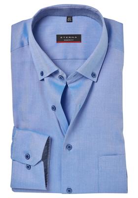ETERNA Modern Fit overhemd, blauw twill (contrast)