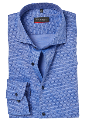 ETERNA Modern Fit overhemd, blauw dessin