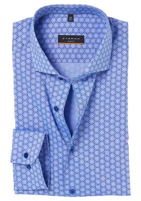 Eterna Slim Fit overhemd, lichtblauw dessin