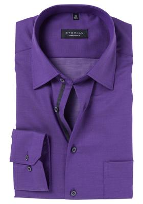 ETERNA Comfort Fit overhemd, paars structuur