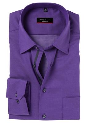 ETERNA Modern Fit overhemd, paars structuur