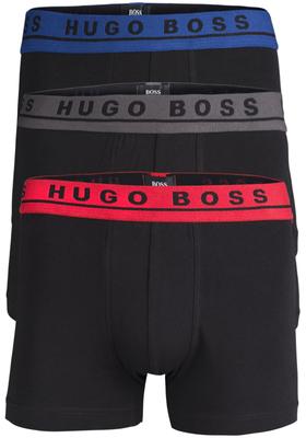 Hugo Boss trunk (3-pack), zwart met gekleurde band