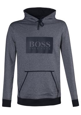 Hugo Boss heren lounge sweatshirt hoody, blauw-grijs melange