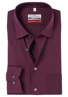 MARVELIS Comfort Fit overhemd, bordeaux rood