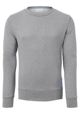 Calvin Klein Cotton Logo Badge Sweatshirt, grijs