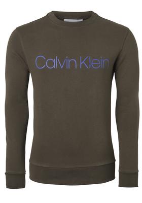 Calvin Klein Cotton Logo Sweatshirt, donker olijfgroen
