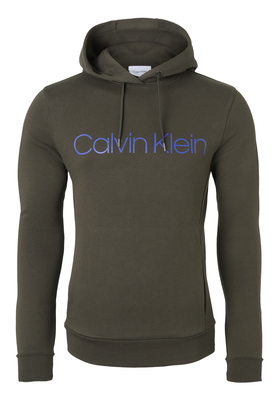 Calvin Klein Cotton Logo Sweat Hoody, donker olijfgroen