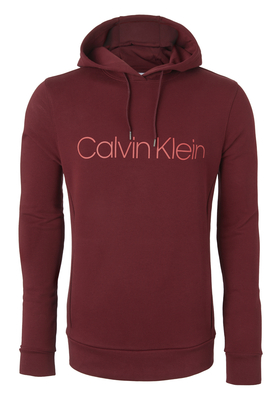 Calvin Klein Cotton Logo Sweat Hoody, donkerrood