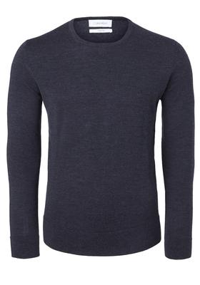 Calvin Klein superior wool crew neck pullover, heren trui wol, antraciet