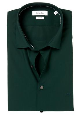 Calvin Klein Slim Fit overhemd (Bari), donkergroen (Hunter)