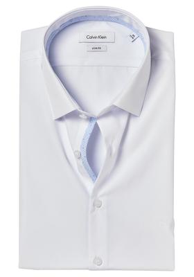 Calvin Klein Slim Fit overhemd (Bari), wit (contrast)