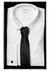 Calvin Klein Slim Fit overhemd (Bari), wit dubbele manchet
