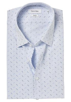 Calvin Klein Slim Fit overhemd (Padua), blauw dessin