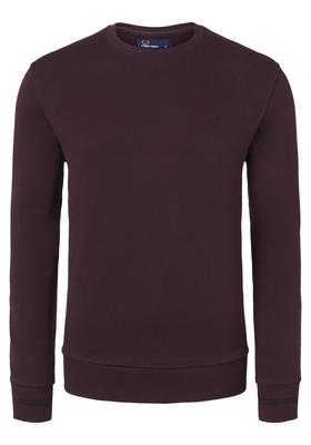 Fred Perry M2599 sweatshirt, roodbruin, Deep Mahogany
