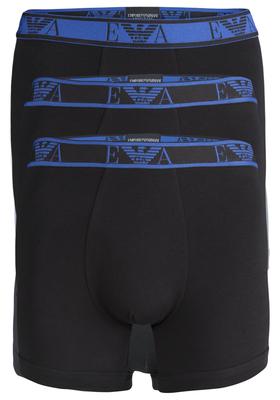 Armani Boxers (3-pack), zwart met gekleurde band
