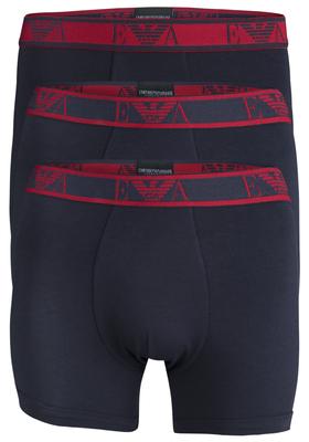 Armani Boxers (3-pack), blauw met gekleurde band
