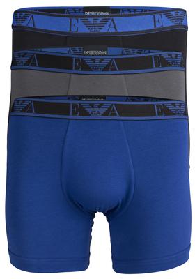 Armani Boxers (3-pack), zwart, kobalt, antraciet