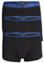 Armani Trunks (3-pack), zwart met gekleurde tailleband