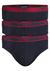Armani Slips (3-pack), donkerblauw met rode band