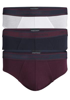 Armani Slips (3-pack), donkerblauw, bordeaux en wit