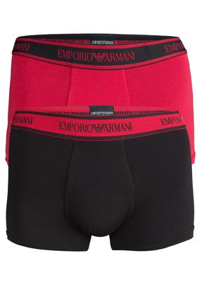 Armani Boxers (2-pack), rood en zwart