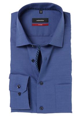 Seidensticker Modern Fit overhemd, blauw (dessin contrast)