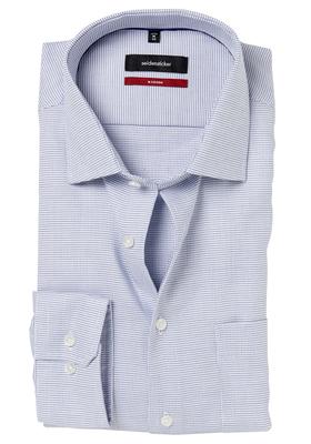 Seidensticker Modern Fit overhemd, lichtblauw structuur
