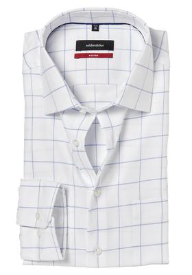 Seidensticker Modern Fit overhemd, blauw-wit geruit