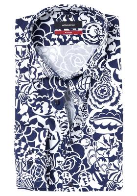 Seidensticker Modern Fit overhemd, blauw-wit dessin
