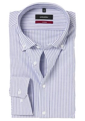 Seidensticker Modern Fit overhemd, blauw-wit gestreept