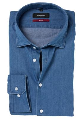 Seidensticker Modern Fit overhemd, blauw jeans