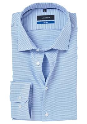 Seidensticker Tailored Fit, lichtblauw structuur