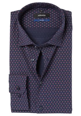 Seidensticker Tailored Fit, blauw-rood dessin